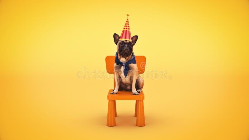 F?te d'anniversaire de chien rendu 3d photos libres de droits