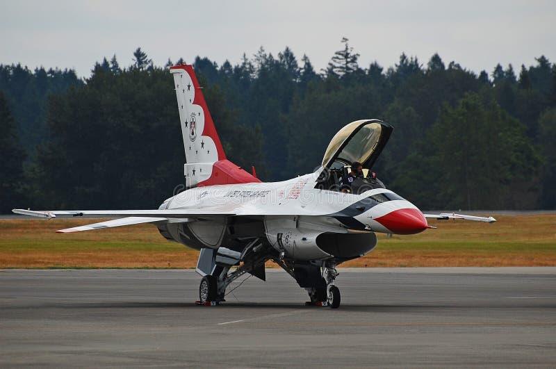 F-16 Thunderbird stock photography