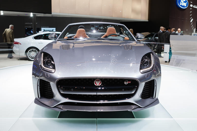F-tipo SVR de Jaguar foto de archivo libre de regalías