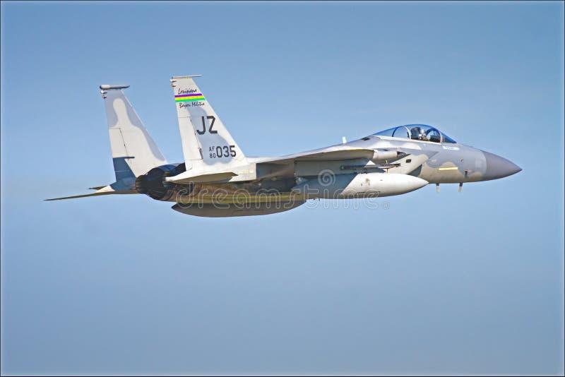 F15 USA lotnictwa gwardii narodowej strumień zdjęcie stock
