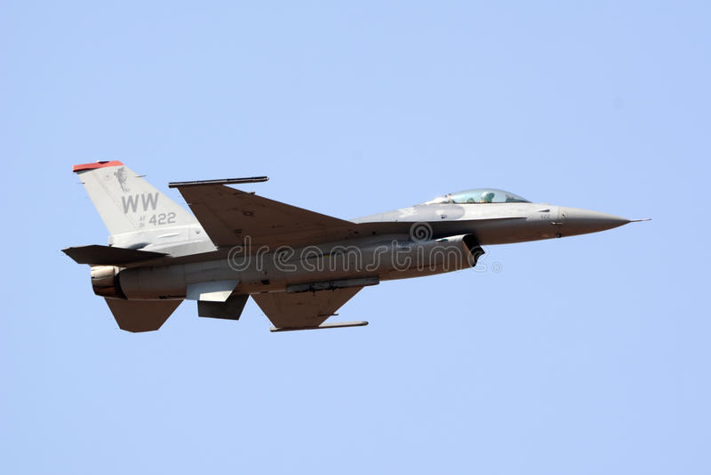 F-16 USA siły powietrzne zdjęcie royalty free