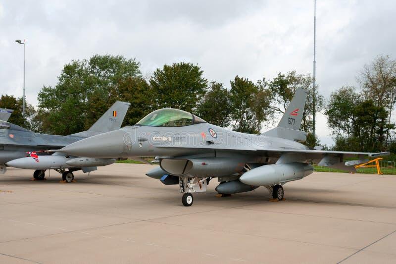 F-16 van Noorwegen vechtersstraal royalty-vrije stock afbeeldingen