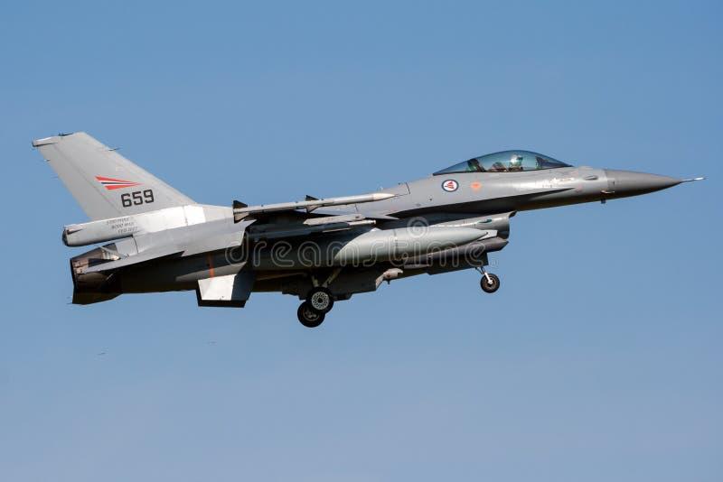 F16 van Noorwegen vechtersstraal royalty-vrije stock foto