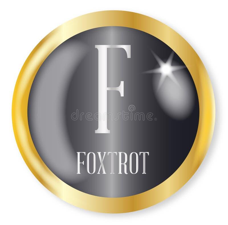 F voor Foxtrot stock illustratie