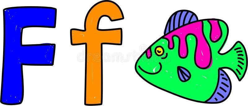 F is voor vissen royalty-vrije illustratie