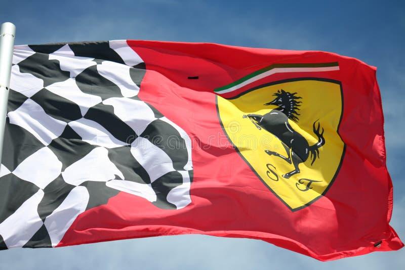 f1 σημαία ferrari στοκ εικόνα