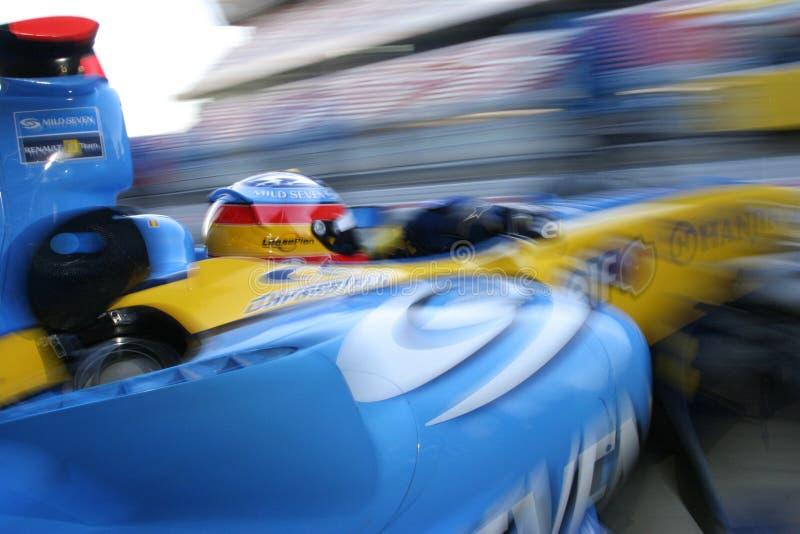 F1 2005 - Fernando Alonso Renault royalty-vrije stock afbeeldingen