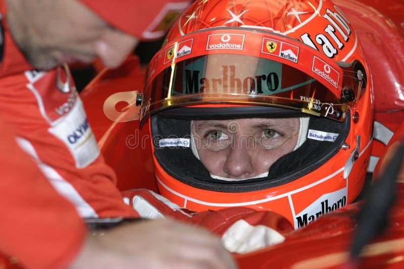 F1 2005 - Michael Schumacher Ferrari fotografia stock