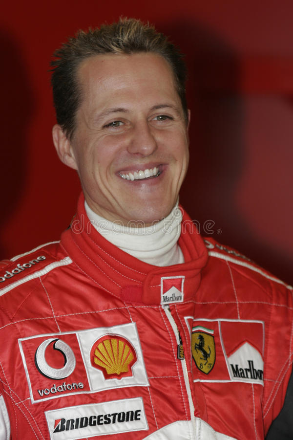 F1 2005 - Michael Schumacher Ferrari. Michael Schumacher, Ferrari F2005, during Formula One test in Barcelona - January 2005 stock photo