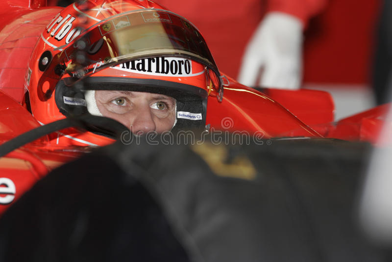 F1 2005 - Michael Schumacher Ferrari stockfoto