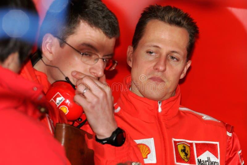 F1 2005 - Michael Schumacher Ferrari lizenzfreie stockfotografie