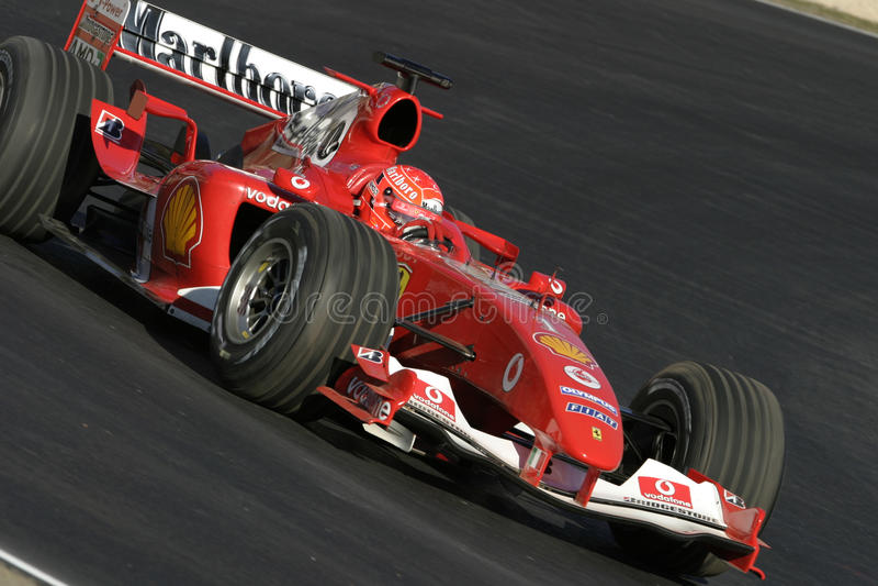 F1 2005 - Michael Schumacher Ferrari lizenzfreie stockfotos