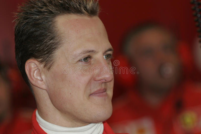 F1 2005 - Michael Schumacher Ferrari fotografia stock libera da diritti