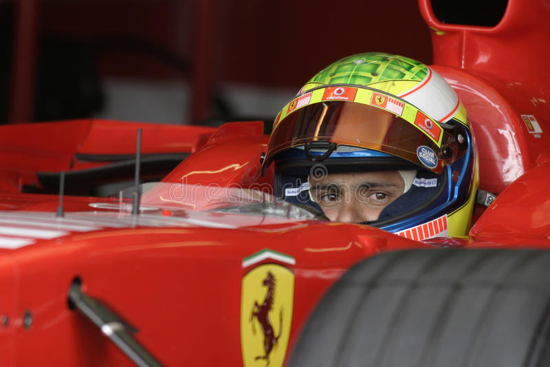 F1 2006 - Felipe Massa Ferrari fotos de archivo libres de regalías