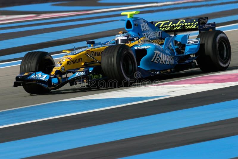 F1 2006 - Fernando Alonso Renault stock photos