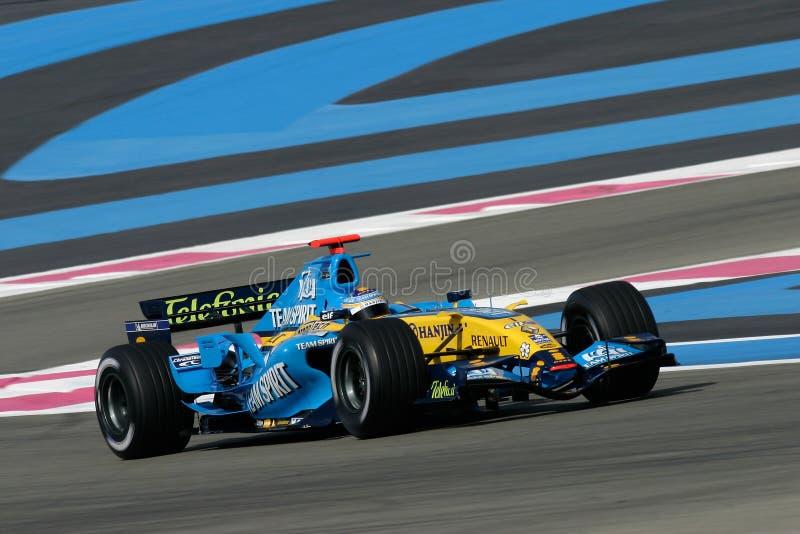 F1 2006 - Fernando Alonso Renault stock photography