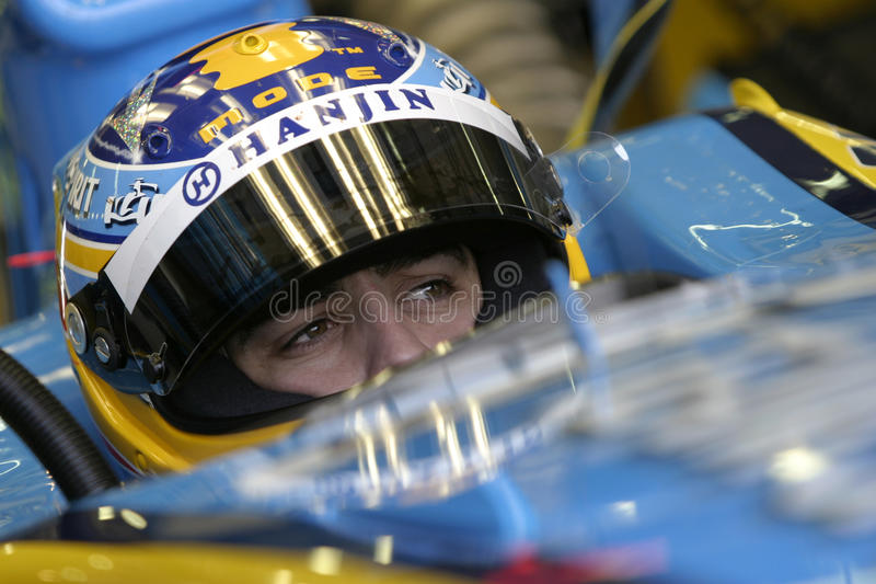 F1 2006 - Fernando Alonso Renault stock images