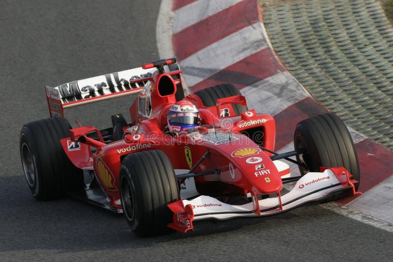 F1 2006 - Gene Ferrari del Marc fotografie stock