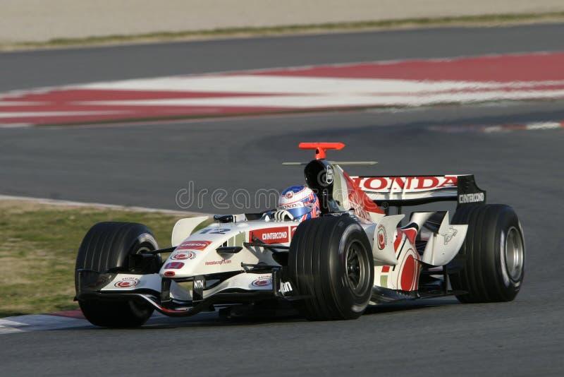 F1 2006 - Jenson Button Honda fotos de archivo