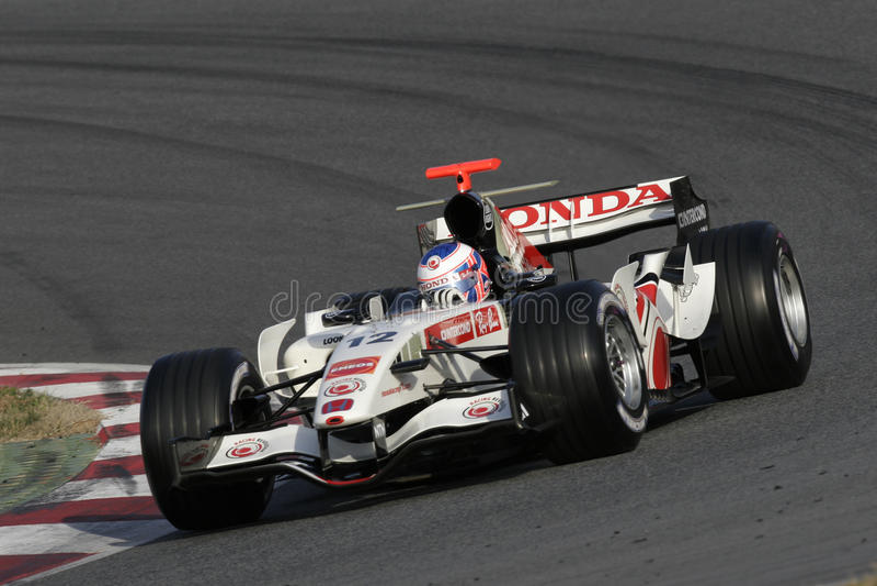F1 2006 - Jenson Button Honda imagen de archivo