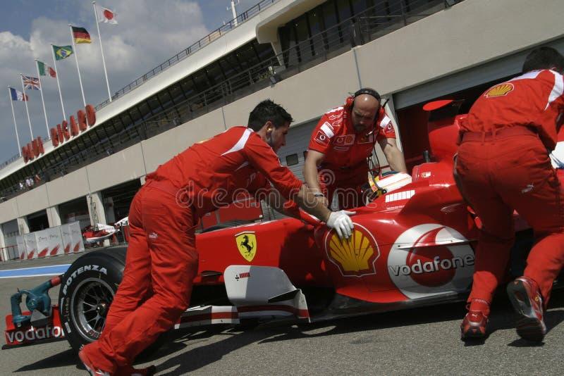 F1 2006 - Luca Badoer Ferrari royalty-vrije stock foto's