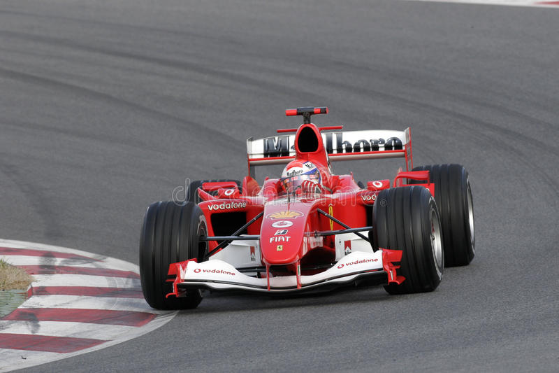 F1 2006 - Marc gen Ferrari royaltyfri foto