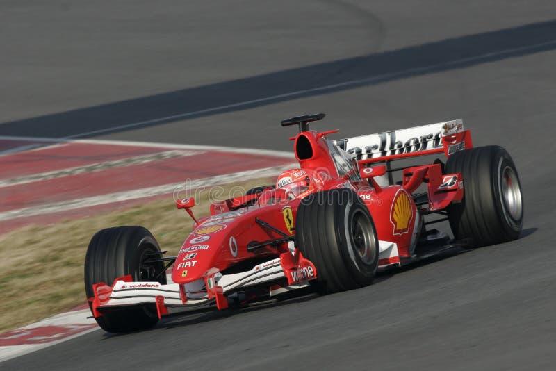 F1 2006 - Michael Schumacher Ferrari royaltyfri foto