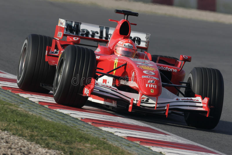 F1 2006 - Michael Schumacher Ferrari fotografering för bildbyråer