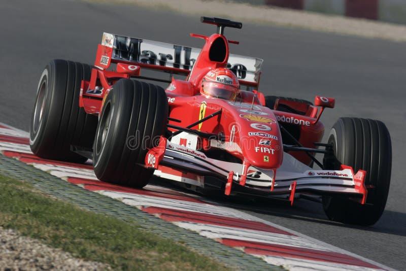 F1 2006 - Michael Schumacher Ferrari imagen de archivo