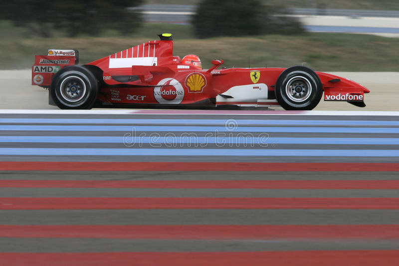 F1 2006 - Michael Schumacher Ferrari royalty free stock photos