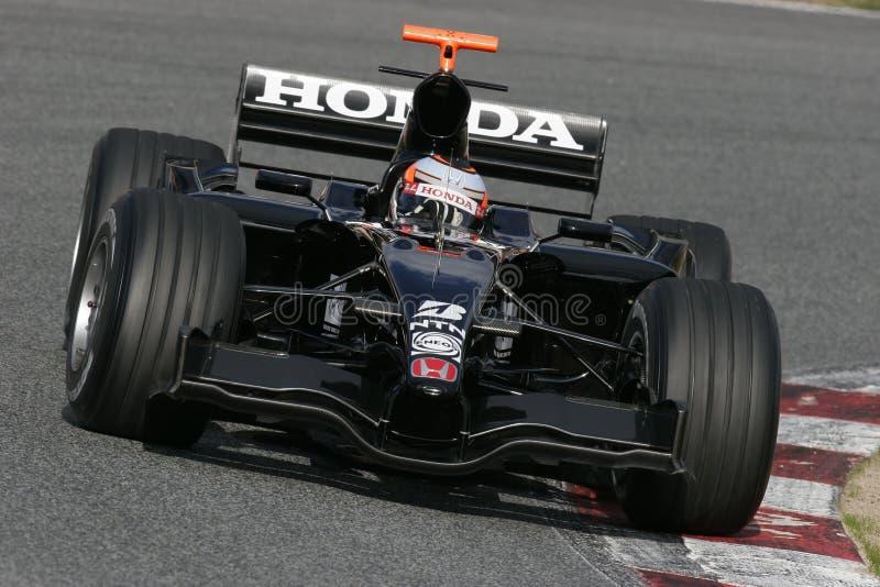 F1 2007 - Christian Klien Honda royalty-vrije stock fotografie