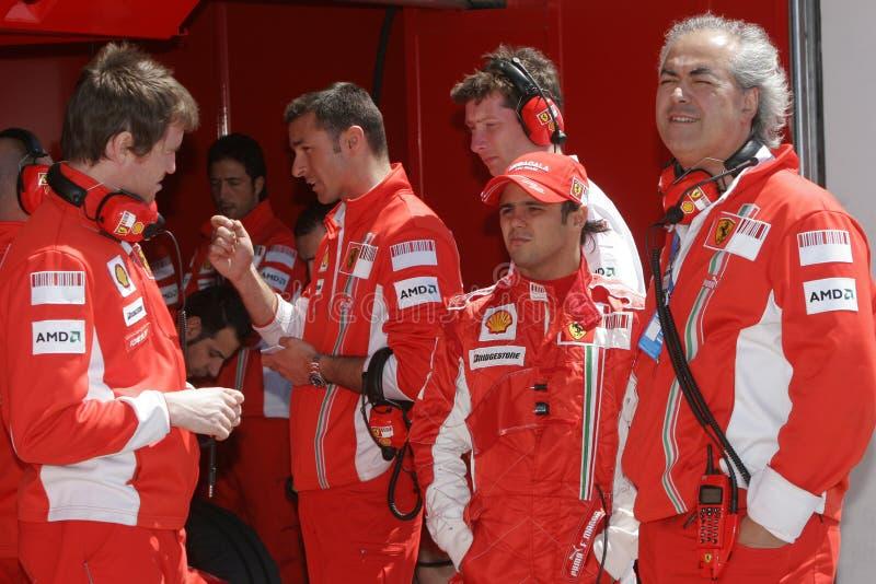F1 2007 - Felipe Massa Ferrari foto de stock