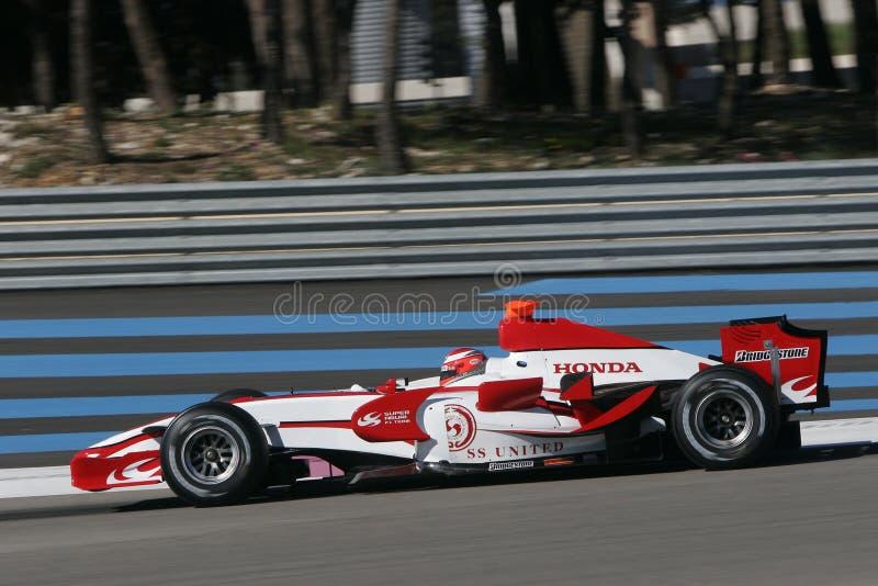 F1 2007 - James Rossiter Super Aguri stock afbeeldingen