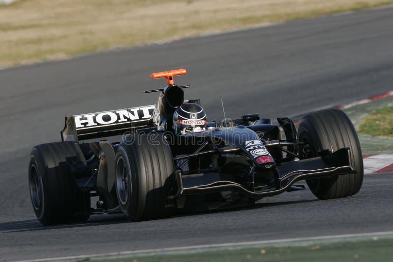 F1 2007 - Jenson Button Honda fotografía de archivo libre de regalías