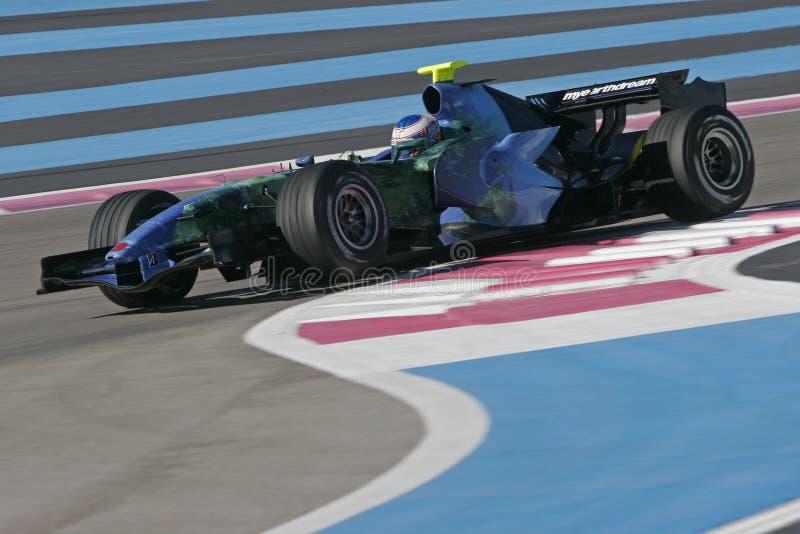 F1 2007 - Jenson Button Honda foto de archivo libre de regalías