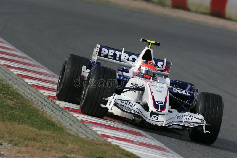 F1 2007 - Robert Kubica BMW Sauber fotografia de stock