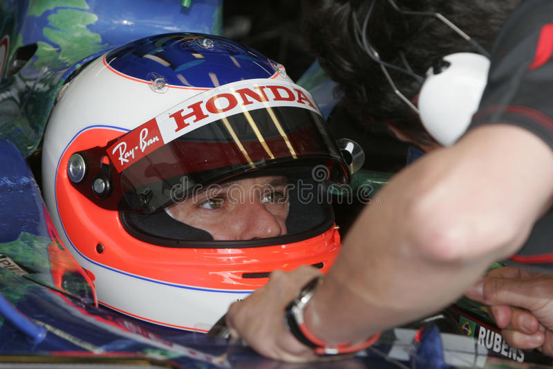 F1 2007 - Rubens Barrichello Honda foto de archivo
