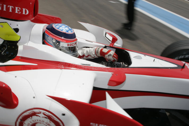 F1 2007 - Takuma Sato Aguri estupendo imágenes de archivo libres de regalías