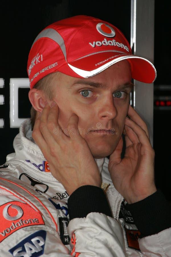 F1 2008 - Heikki Kovalainen McLaren imagens de stock royalty free