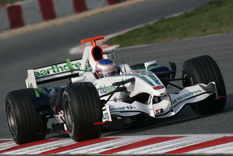 F1 2008 - Jenson Button Honda fotos de archivo