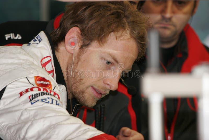 F1 2008 - Jenson Button Honda photo libre de droits