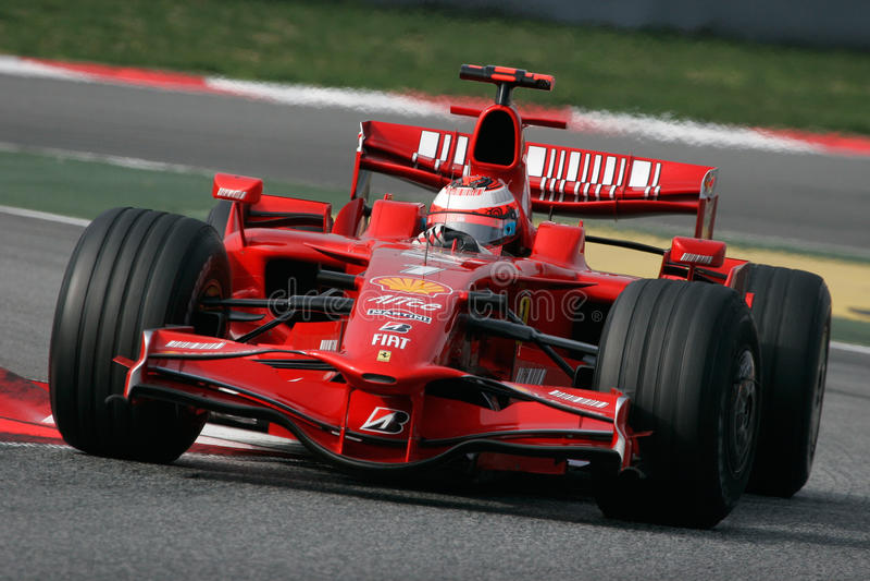 F1 2008 - Kimi Raikkonen Ferrari fotos de archivo