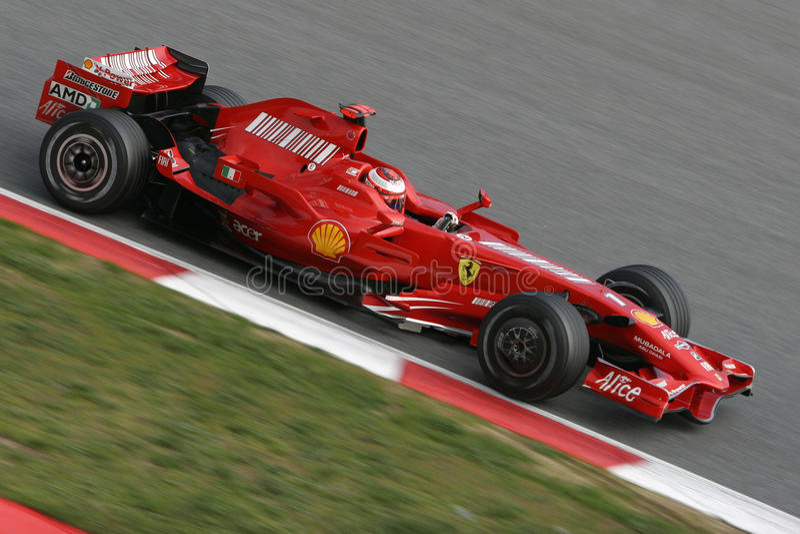 F1 2008 - Kimi Raikkonen Ferrari Editorial Photo