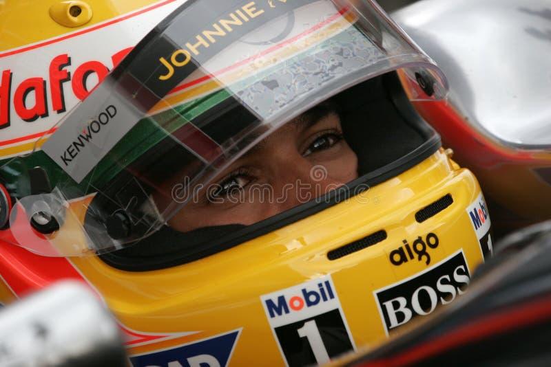F1 2008 - Lewis Hamilton McLaren imagens de stock royalty free