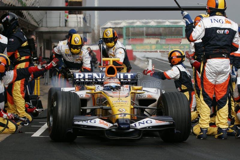 F1 2008 - Nelson Piquet Renault foto de archivo libre de regalías
