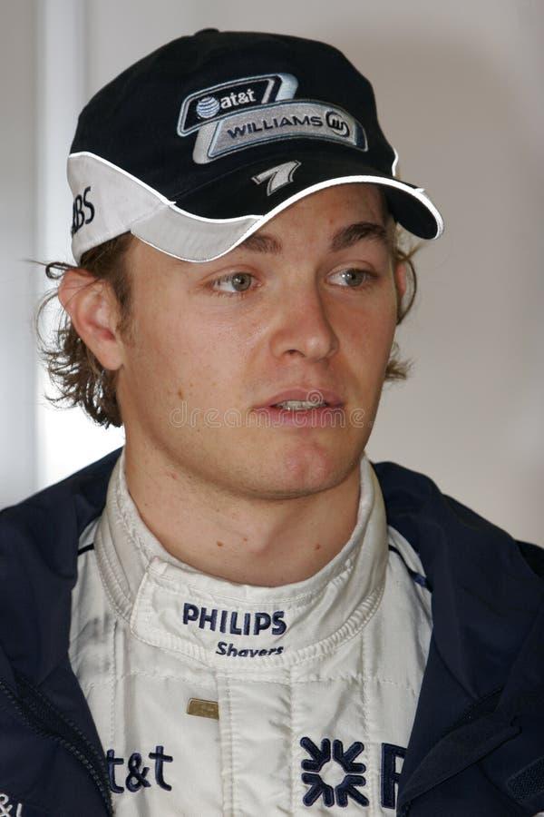 F1 2008 - Nico Rosberg Williams imagens de stock
