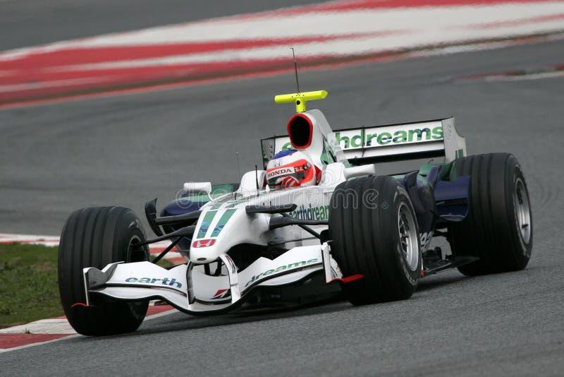 F1 2008 - Rubens Barrichello Honda fotografía de archivo libre de regalías