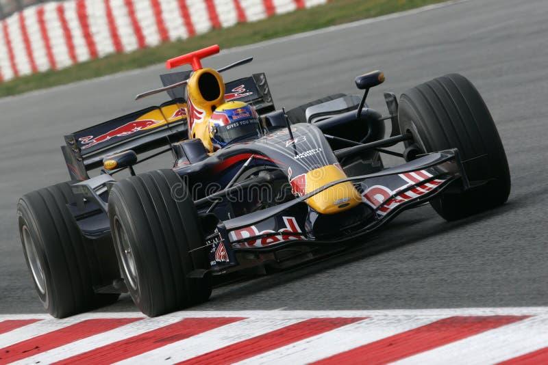 F1 2008 - Teken Webber Red Bull royalty-vrije stock foto's