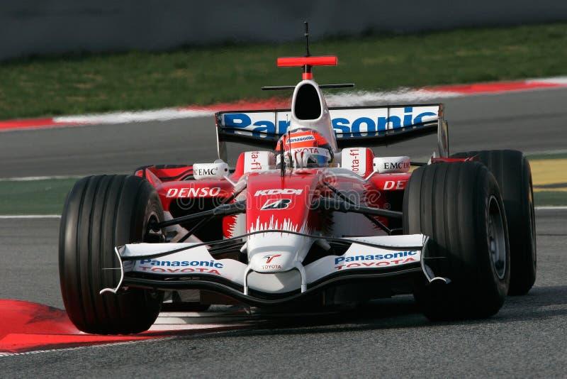 F1 2008 - Timo Glock Toyota photo stock