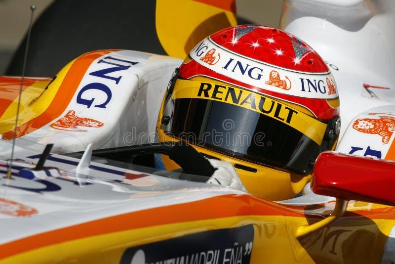 F1 2009 - Fernando Alonso Renault photos libres de droits